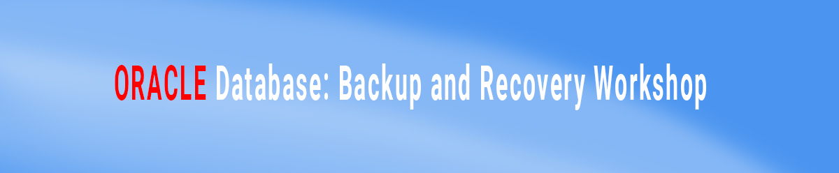 Oracle Database Backup and Recovery Workshop