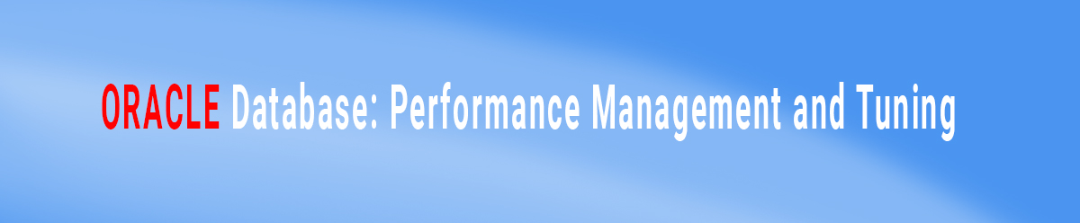 Oracle Database Performance Management and Tuning