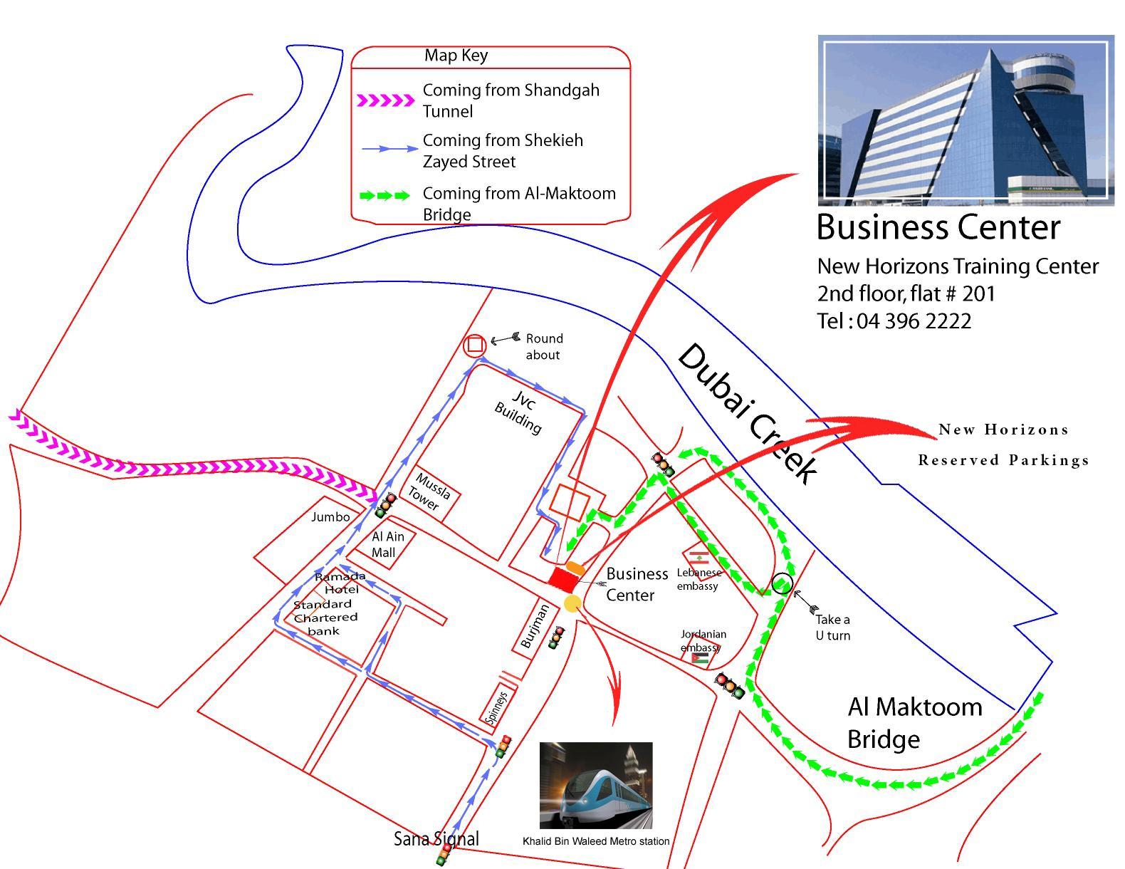 New Horizons Dubai, UAE Locations