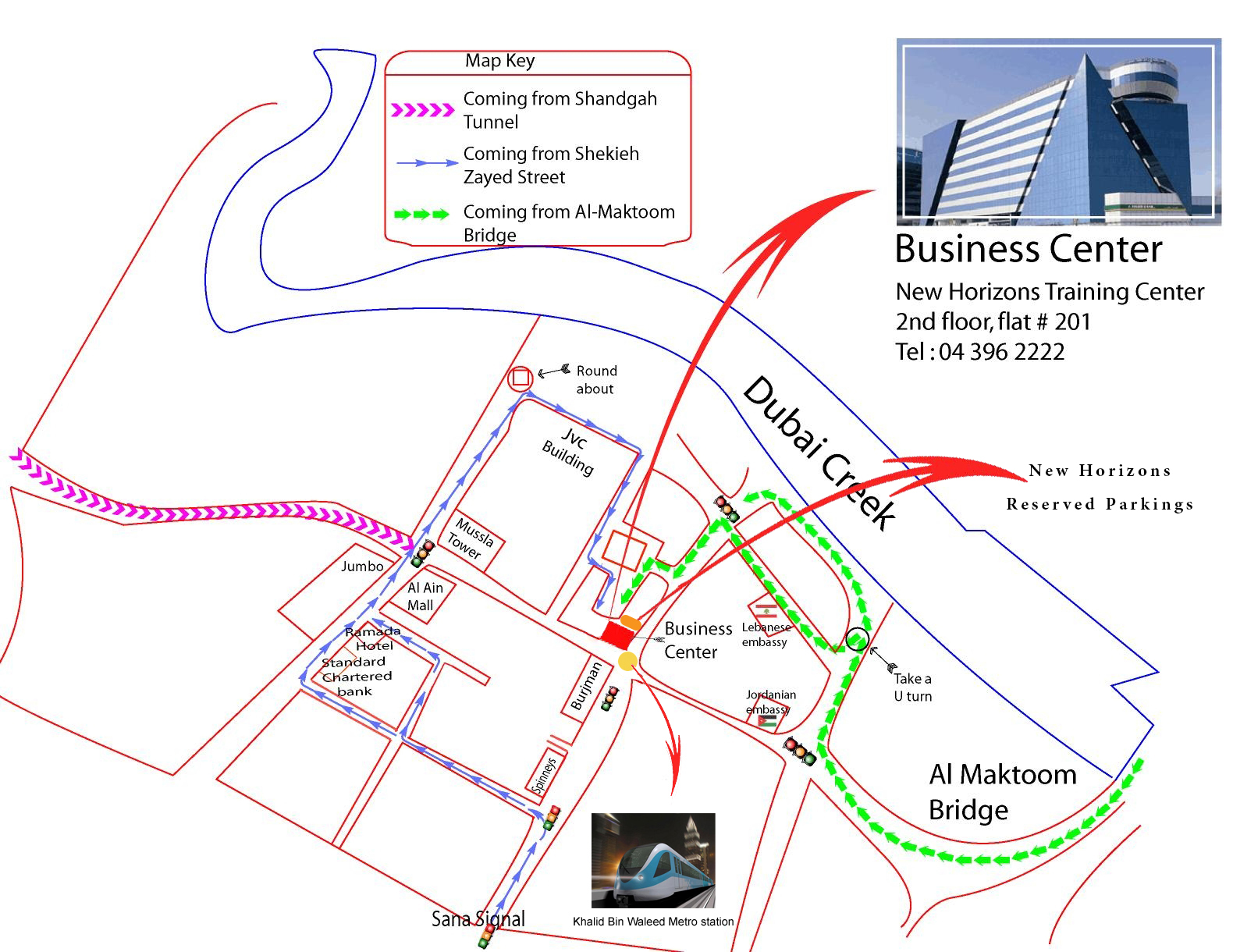 New Horizons Dubai UAE Locations - Us embassy dubai location map